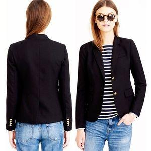 J. Crew Black Wool Blend Schoolboy Blazer Jacket